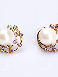 economico -Per donna Orecchini a bottone Perle finte Perle finte Lega Rotondo Gioielli PerMatrimonio Feste Occasioni speciali Compleanno Da sera