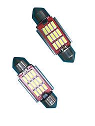 2PCS 6W High Bright Lightness Festoon LED Bulb for License Plate Lamp LED Reading Lamp LED Width Lamp White Color