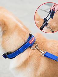 preiswerte -Hund Geschirre Leinen Einstellbar Solide Nylon Schwarz Blau