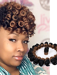 cheap -Bouncy Curl crochet braids 10inch kenzie curl kanekalon braiding hair Synthetic braids Hair extensions 20roots/pack twist haar extension