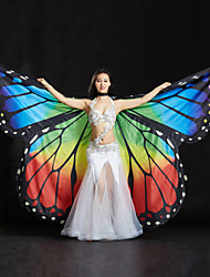 cheap -Belly Dance Isis Wings Women's Performance Spandex Sequin Crystals/Rhinestones 3 Pieces 1 Holder Wings