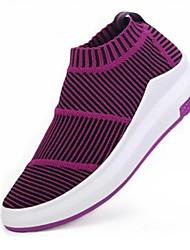 Women's Shoes Spring Summer Fall Creepers Comfort  Fabric Wedge Heel Light Grey/Purple/Black