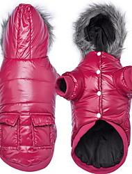Собака Плащи Пижамы Одежда для собак На каждый день Сплошной цвет Серый Лиловый Синий Розовый