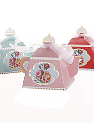 cheap -25pcs Creative Teapot Wedding Favor Box Candy Box Party Decoration