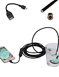 Android Mobile Phone Endoscope 5.5mm Lens 0.3 Mega Pixel HD Waterproof LED Computer Universal 2m Long Flexible Cord