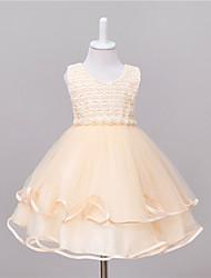 princesse genou longueur robe de fille de fleur - tortue en plastique taffetas en brique par bflower