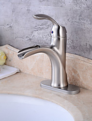 cheap -Nickel Brushed Tall Single Handle Lever Bathroom Sink Vessel Faucet