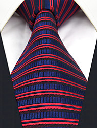 CXL17 Handmade Extra Long New For Men Neckties Red Blue Stripes 100% Silk Casual Fashion Dress