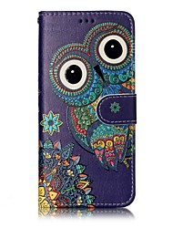 cheap -For Samsung Galaxy S8 Plus S8 Phone Case Owl Pattern Varnishing Process PU Leather Material Phone Case S7 Edge S7 S6 Edge S6