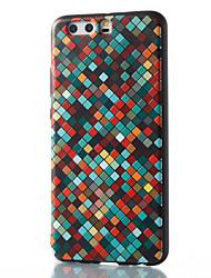 economico -Per huawei mate 8 mate 9 pro copertura caso modello griglia modello rilievo telefono tpu materiale p10 p9 p8 lite 2017 6x nova v9