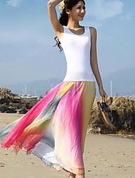 abordables -Mujer Boho Playa Columpio Faldas - Estampado
