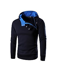 Men's Sport Daily Casual Hoodie Solid Hooded Micro-elastic Polester/Cotton Blend Long Sleeve Spring Fall