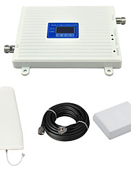 cheap -DCS 1800mhz 2G GSM 900mhz Cell Phone Dual Band Signal Booster Amplifier with Log Periodic Antenna / Panel Antenna / Cable / LCD Display / White
