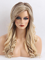 Prevalent Long Waves Ombre Human Hair Wig For Woman