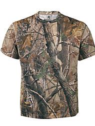 Kurzarm Tarnmuster Jagd-T-Shirt Atmungsaktiv Oberteile für Jagd S M L XL
