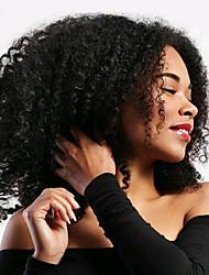 economico -Ricci intrecciati Trecce di capelli 35cm Ricci Jheri Riccio Capelli 100% Kanekalon Grigio Biondo ramato Media Auburn Nero / Medium Auburn