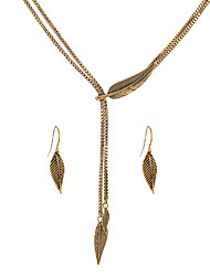 cheap -Women's Jewelry Set Unique Design Euramerican Party Anniversary Gift Casual Valentine Alloy Leaf