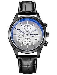 Homens Único Criativo relógio Relógio Casual Relógio de Moda Relógio de Pulso Quartzo PU Banda Luxo Criativo Casual Elegant Legal Preta