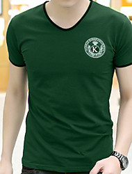 11 Colors S-5XL Fashion Men's Plus Size Casual/Daily Holiday Simple Sport Summer T-shirt Solid Print Letter V Neck Short Sleeve Nice Price