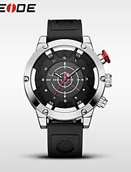 Homens Relógio Esportivo Relógio Elegante Relógio de Moda Japanês Quartzo Impermeável Silicone Banda Casual Legal Preta