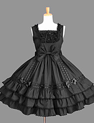 cheap -Gothic Lolita Dress Princess Punk Women's Girls' JSK / Jumper Skirt Cosplay Cap Short Sleeves Short / Mini