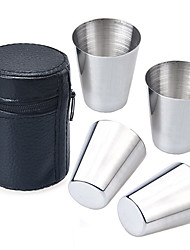 cheap -Drinkware Faux Leather Stainless Steel Daily Drinkware Novelty Drinkware Tea Cup Coffee Mug Travel Mugs Cup Cover Travel Storage Travel
