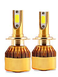 2017 novo 2 pcs 30w 3000lm h7 kit farol lonowo cob chip super brilhante 6000k farol branco