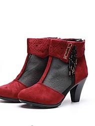 Women's Boots Club Shoes Fabric Spring Summer Dress Fashion Boots Flat Heel Black Flat