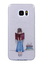 cheap -For Samsung Galaxy S8 S8 Plus Case Cove Reading Girl Pattern Flash Powder IMD Process TPU Material Phone Case S7 S6 Edge