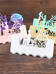 cheap -40pcs Bride And Groom Laser Cut Wedding Table Place Card Name Card Wedding Party Table Decoration Mr Mrs Love Heart Cards