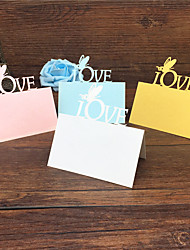 cheap -40pcs Love And Butterfly Laser Cut Wedding Party Table Name Place Cards Guest Place Cards Favors Wedding Decoration