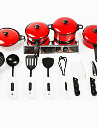 cheap -Toy Kitchen Set Toy Dishes & Tea Sets Kids' Cooking Appliance Simulation Plastics Kid's Boys' Girls' Toy Gift 13 pcs