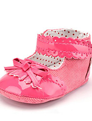 cheap -Newborn Baby Girls' Kids' Boots First Walkers PU Twill Summer Fall Party & Evening Dress Casual Bootie Lace-up Tassel Flat Heel Navy Blue Peach White