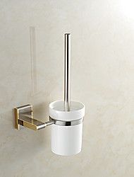 cheap -Toilet Brush Holder High Quality Neoclassical Metal 1 pc - Hotel bath Wall Mounted