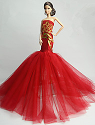 cheap -Party/Evening Dress For Barbie Doll Dress For Girl's Doll Toy