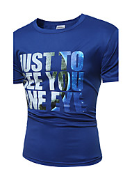 Men 's Fashion Casual Letter Printing Large - Size Short - Sleeved T - Shirt