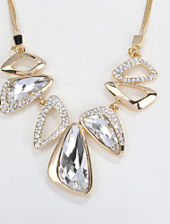 Women's Statement Necklaces Jewelry Jewelry Crystal Alloy Unique Design Fashion Euramerican Jewelry For Party Other Evening Party