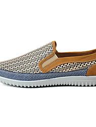 preiswerte -Herrn Schuhe Tüll Frühling Sommer Leuchtende Sohlen Komfort Loafers & Slip-Ons Walking für Alltag Normal Grau Hellbraun