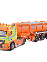 cheap -KDW Tank truck Toy Truck Construction Vehicle Toy Car Pull Back Vehicles Metal Unisex Toy Gift
