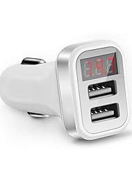 cheap -LED Screen Car Charger for iPhone Samsung 2-Port USB Smart Car-Charger Adapter 2.1A Mobile Phone Adapter Charging