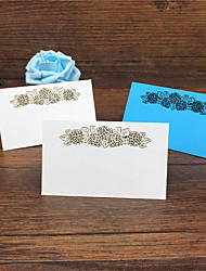 40pcs Laser Cut Flower Wedding Table Place Card Name Card Wedding Party Table Decoration Laser Crafts Event Party Supplies