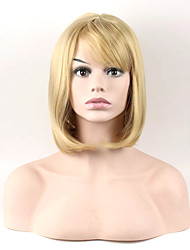 Fashion Sexy Women Straight Hair Short Wig Blonde Color Cosplay Synthetic Wigs