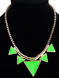 Femme Pendentif de collier Colliers chaînes Bijoux Forme d'Etoile Forme de Triangle Résine AlliageBasique Original Pendant Amitié