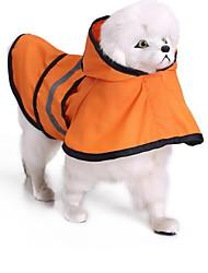 Gatto Cane Impermeabile Abbigliamento per cani Casual Impermeabili Tinta unita Arancione Blu