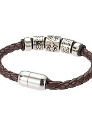 cheap -Men's Leather Bracelet Jewelry Natural Fashion Costume Jewelry Leather Alloy Irregular Jewelry For Special Occasion Gift