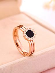 preiswerte -Damen Verlobungsring Ring Rotgold Titanstahl Rose Gold überzogen Kreisförmig Klassisch Retro Hochzeit Party Jahrestag Alltag Modeschmuck
