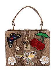 Femme Sacs Toutes les Saisons Polyuréthane Polyester Sac de soirée Appliques Fleur Brodée pour Mariage Anniversaire Soirée / Fête