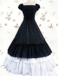 cheap -Victorian Gothic Medieval Costume Women's Dress Party Costume Masquerade Vintage Cosplay Other Cotton Short Sleeves Cap Floor Length