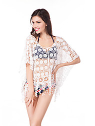 Hollow Tassel Sweater Bikini Embroidery Blouse Large Size Women Beach  Blouse