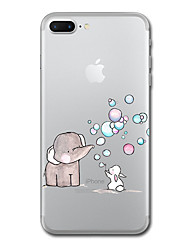 For iPhone X iPhone 8 Case Cover Transparent Pattern Back Cover Case Animal Elephant Soft TPU for Apple iPhone X iPhone 8 Plus iPhone 8